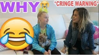 REACTING TO OUR CRINGEY MUSICAL.LYS! with BABY ARIEL