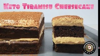 HOW TO MAKE EASY KETO TIRAMISU CHEESECAKE (NON-ALCOHOLIC) - SOFT, MOIST & FLAVORFUL !