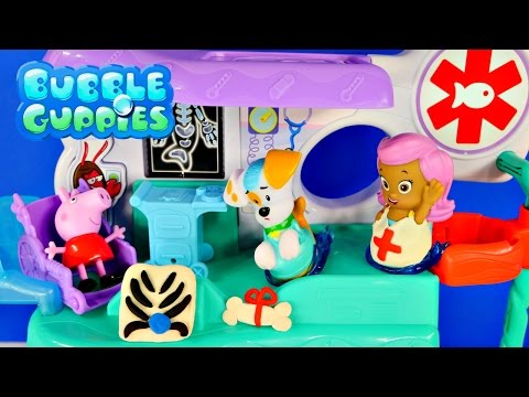 Play Doh Bubble Guppies Check-up Center Peppa Pig Hospital Doctor Music And Songs Toy video
