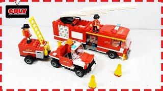 lắp ráp Lego xe cứu hỏa kéo chửa cháy đồ chơi trẻ em fire protection truck car toy for kids