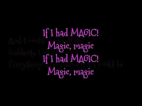 Barbie movie song: If I had magic lyrics on screen