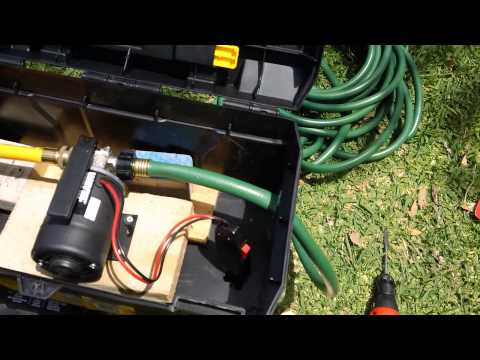 DIY Portable Solar Water Pump Station - Move The Water and the Pump Where you Need It.
