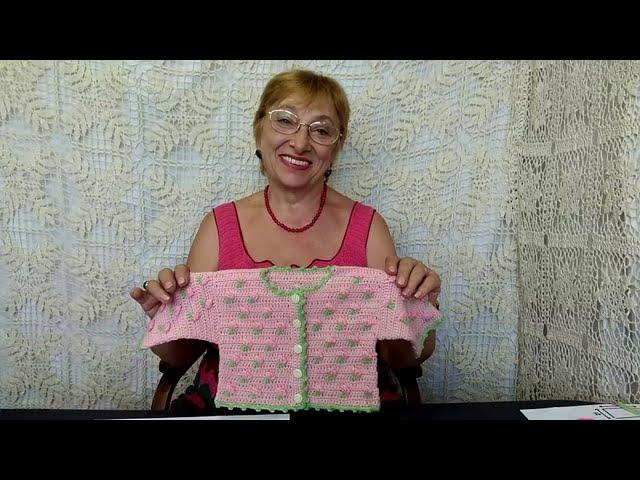 """Вязание крючком для детей от О.С. Литвиной. 2 часть МК комплекту """"Цветочек""""."""