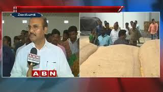 Minister Prathipati Pulla Rao sudden inspection at Gollapudi market yard godown