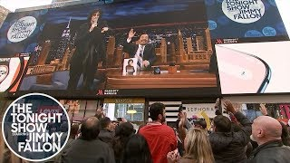 "Howard Stern and Jimmy Dance the ""Hokey Pokey"" Live from a Times Square Billboard"