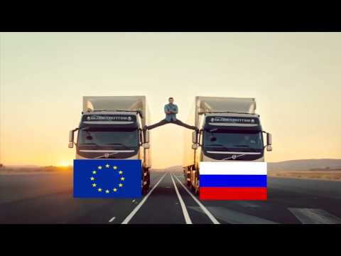 Volvo Trucks - The Epic Split Ukraine Трюк от Януковича