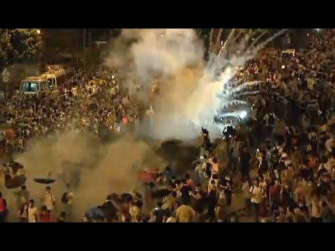 Hong Kong protests escalate: Police use tear gas, pepper spray