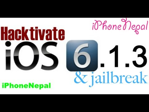 How To Hacktivate iOS 6.1.3 & Jailbreak iPhone 4/3Gs Bypass Activation Screen No Sim Card Need