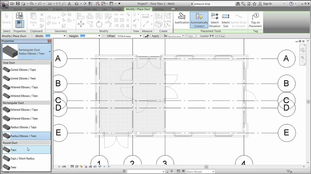 Revit Mep 2012 Session 4 Draw Ductwork Mp4 Youtube