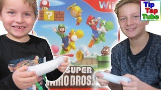 Lets play New Super Mario Bros Nintendo Wii Games zocken Jump and run Platform Spielzeug Kinderkanal