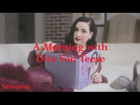Dita Von Teese shows us her morning routine