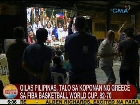 UB: Gilas Pilipinas, talo sa koponan ng Greece sa FIBA Basketball World Cup