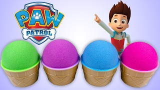 Best Learning Colors Surprise Eggs Paw Patrol Kinetic Sand Ice Cream Cones