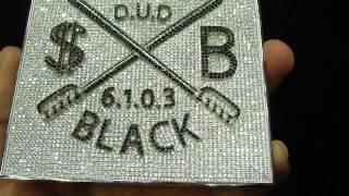 Shauncey Black Custom Sqaure Icy VVs Diamond Pendant