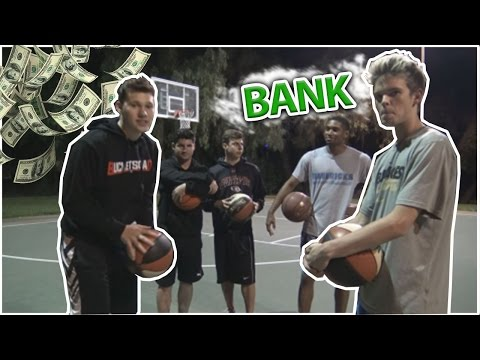 INSANE GAME OF BANK!!! three point contest