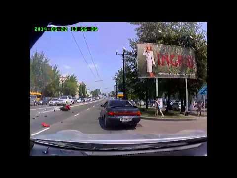 РЕГИСТРАТОР 154 МотоДТП в Хабаровске — 22.05.14 CBR & Honda