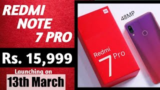 Redmi Note 7 Pro Official Teaser   Specification, Price & Launch date in India.