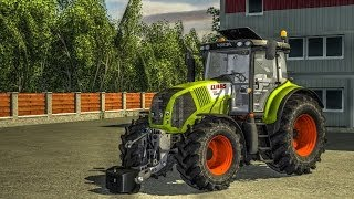 Claas Axion 850 - Seeding wheat