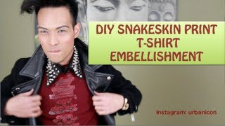 DIY SNAKESKIN PRINT T-SHIRT EMBELLISHMENT | Series 1 of 3