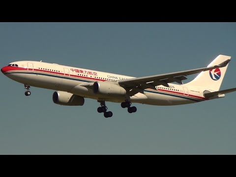 China Eastern Airlines A330 landing I Sydney International Airport