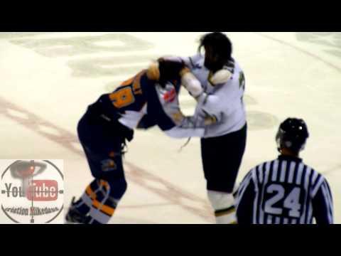 hockey fight Penner vs Thériault 2 nov 2013