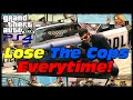 How To Lose The Cops 100% Everytime Guaranteed In GTA 5! GTA 5 PS4 FPS Mode!