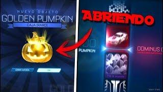 ABRIENDO MI PRIMERA CALABAZA DORADA !!! OPENING GOLDEN PUMPKIN !!! Rocket League | Bati two