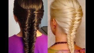 French Fishtail Braid!  Trenza Francesa de Cola de Pescado