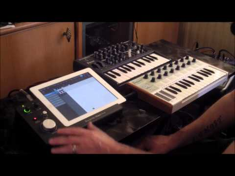 Focusrite iTrack Dock, Demo and Setting Up With Audiobus 2 Test