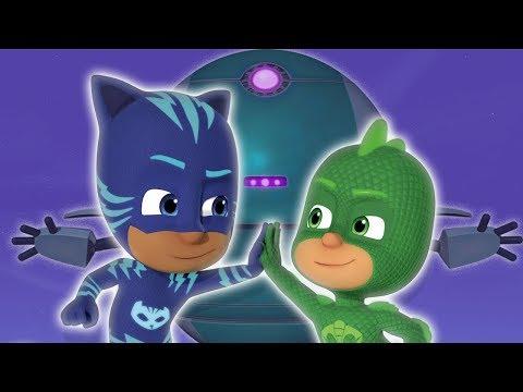 Герои в масках - Кэтбой и Гекко против робота - мультики для детей