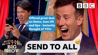 FULL CLIP Strictly's Anton AGHAST as Michael McIntyre PRANK body shames his contacts💃😝 - Send To All