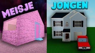 3 JONGENS HUIZEN VS 3 MEISJES HUIZEN! (Roblox)