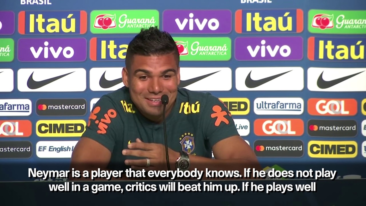 World Cup: Brazil do not protect Neymar from pressure, says Casemiro