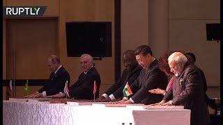 RAW: BRICS leaders leave hand prints at 'Cradle of Humankind' World Heritage Site