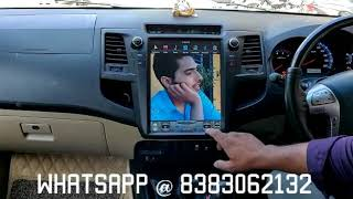 For toyota fortuner Android Tesla system car player review by costumer installed in car