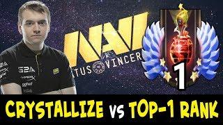 NaVi carry Crystallize vs TOP-1 RANK in Dota