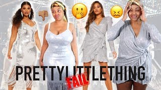 ARE YOU SERIOUS? PRETTY LITTLE THING X HAILEY BALDWIN PARTY WEAR TRY ON HAUL