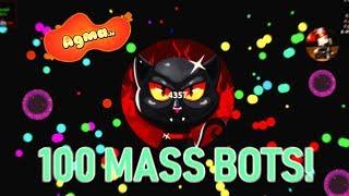 Agma.io - 100 MASS BOTS! + 1.200.000 MASS POPSPLIT