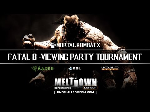 Unequalled Media's 1st Mortal Kombat X Tournament from The Fatal 8 Viewing Party • Meltdown London