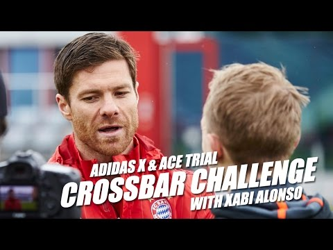 Crossbar Challenge with Xabi Alonso - adidas X & ACE test at Bayern Munich w/Alaba, Alonso & Pep