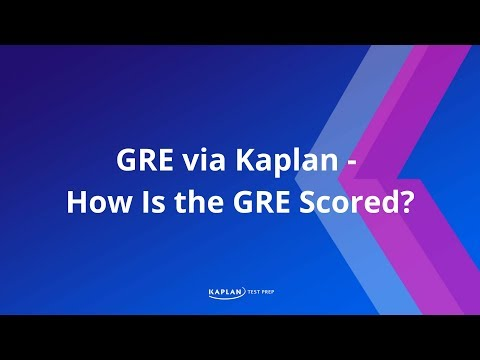 How is the GRE scored?
