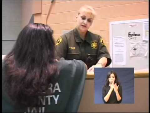 Madera County Inmate Orientation English Sign