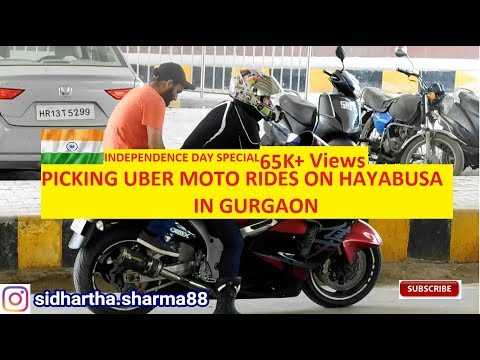 UBER HAYABUSA IN INDIA | PICKING UBER PASSENGERS ON HAYABUSA | PRANKS IN INDIA |