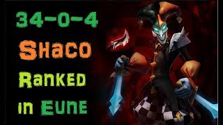 Infernal Shaco visiting EUNE [League of Legends] First Ranked - Full Gameplay - Infernal Shaco