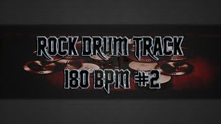 Heavy Rock Drum Track 180 BPM (HQ,HD)