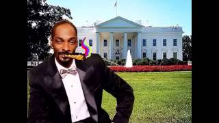 Snoop DoGG smokes weed  at the White House official video