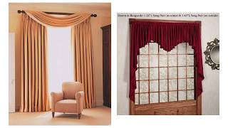 Artistic Long Swag Curtains For Better Choice