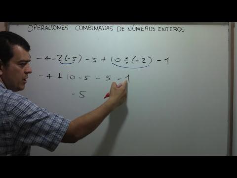 Operaciones combinadas de números enteros.