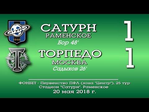 Сатурн (Раменское) - Торпедо (Москва) 1:1. Обзор матча