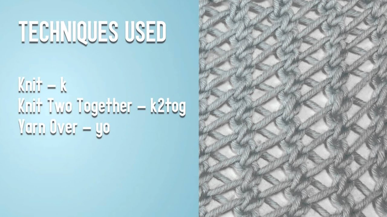 Knitting Styles English : How to knit the faggot stitch english style youtube